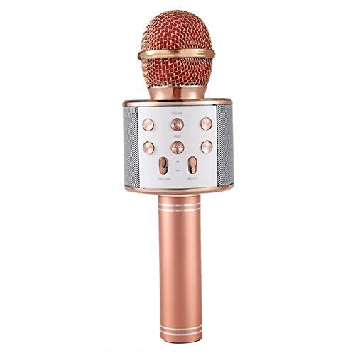 REFURBISHHOUSE Microfono De Karaoke Inalambrico Reproductor De Karaoke Portatil De Dos Paquetes con Altavoz Par Casa Ktv Musica Tocando Y Cantando Fiesta Al Aire Libre