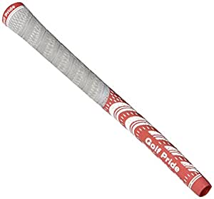 Golf Pride New Decade MultiCompound Platinum Grip, Scarlet/White
