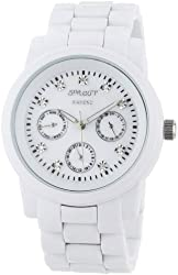Sprout Women's ST/5011MPWT Diamond White Corn Resin Watch
