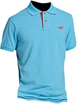 Hollister polo de Slim Fit Pop Placket shirt Tee Turquesa turquesa ...