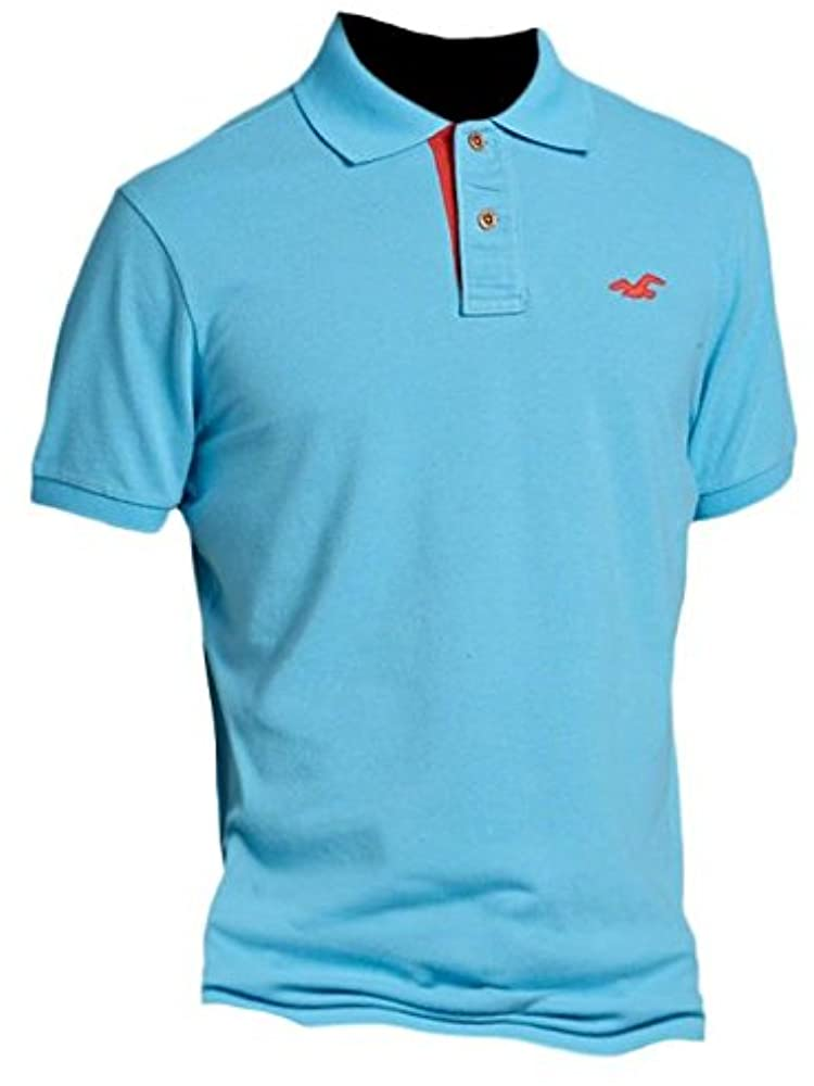 Hollister polo de Slim Fit Pop Placket shirt Tee Turquesa turquesa Small: Amazon.es: Ropa y accesorios
