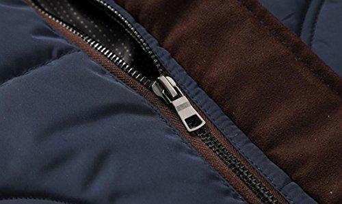 Block Winter L EKU Blue Jackets Down With Hood Warm Fur Color Men's Dark US EFqIg