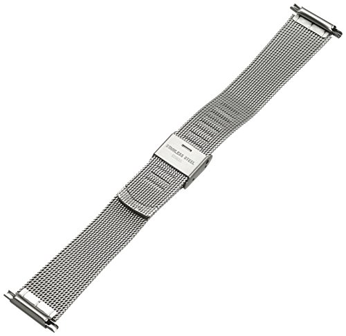Hadley-Roma Men's MB3806RWSQ-22 22-mm Mesh Stainless Steel Watch Bracelet by Hadley Roma (Image #2)