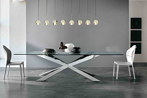 Chandelier Nickel Rectangular (Orion 8 Light Rectangular Floating Glass Globe LED Chandelier, Brushed Nickel)
