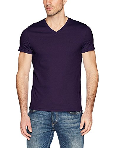 Calvin Klein Men's Short Sleeve V-Neck Cotton T-Shirt (M, Dusty Haze)