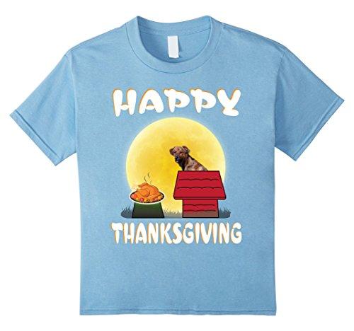 Toddler Hound Dog Costume (Kids Plott Hound Dog Costume Happy Thanksgiving Day T-Shirt Gift 8 Baby Blue)