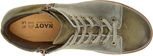 Naot Leather Vintage Smoke Suede Groovy Olive Womens Oily Footwear AOr1A