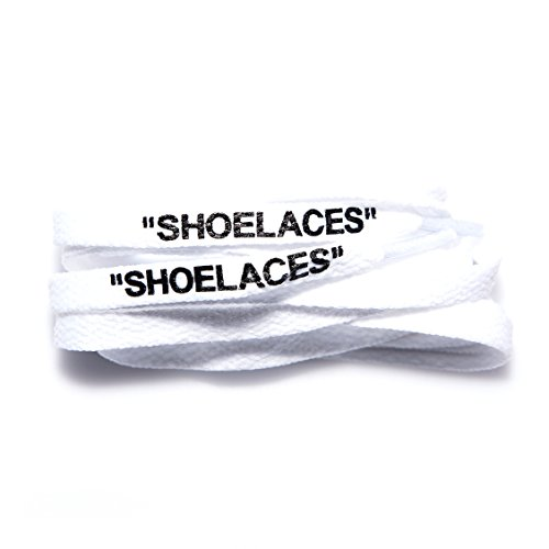 Af1 White Shoes - xxiii -Shoelaces Custom Text Printed Shoe Laces Swap Font - Flat Cotton Design