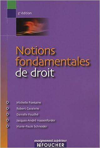 Livres gratuits en ligne NOTIONS FONDAMENTALES DE DROIT  (Ancienne édition) pdf, epub