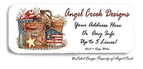 (60 Country Prim Americana USA Cider Birdhouse Personalized Return Address Labels)