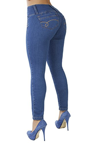Curvify High Waisted Butt Lifting Slimming Jeans for Women - Skinny Stretch Jean 766(766, Indigo, 13)