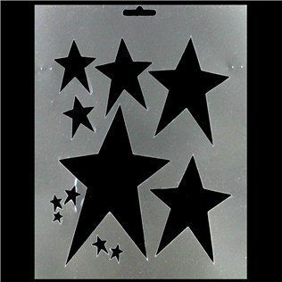 Primitive Star Stencil by CraftyCrocodile
