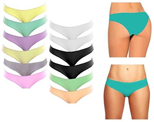 Misti Biancheria in 12 Cotone Donna Colori Fair Slip Pack Intimo qzx4OB
