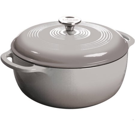 Lodge 6-Quart Dutch Oven, Grey (Small Camp Dutch Oven compare prices)