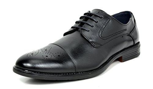 Bruno Halsted Leather Cap Toe Oxfords
