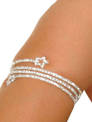 Star Rhinestone Spiral Armband - ONE Size Silver