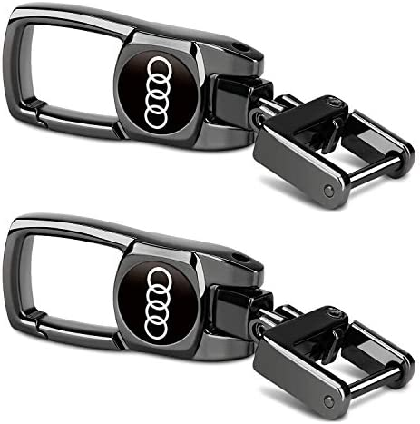 2Pack Car Key Chain Heavy Keychain for Audi Q7 Q5 Q3 A4 A5 A6 A3 A7 S4 8 Rs7 Rs4 S3 S4 S5 S6 S7 Rs Tt S Quattro Logo on Both Side