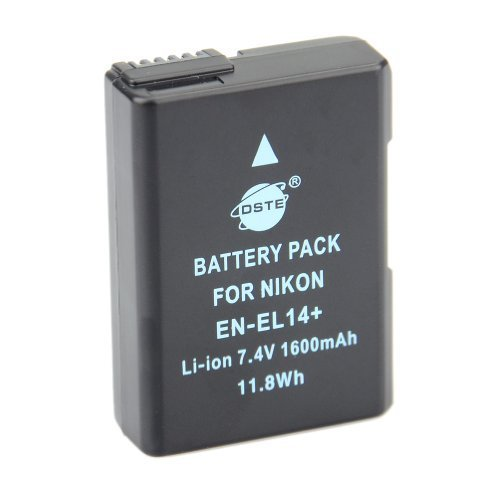 DSTE® EN-EL14 Replacement Li-ion Battery for Nikon D5100 D5200 D5300 D5500 DF P7000 P7100 P7200 P7700 P7800 Digital Camera as EN-EL14A Dst Electron Technological Co. Ltd Nikon EN-EL14