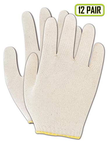 - Magid Lightweight Cotton Polyester Blend Knit Womens Gloves, Reversible, Ambidextrous, Seamless - 7.5