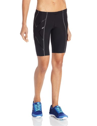 2XU Damen Hose Compression Shorts, Black/Nero, S, WA1932b