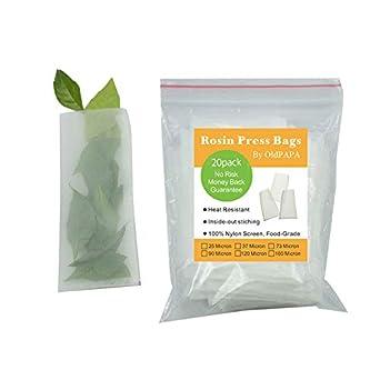 Rosin Press Bags, 90 Micron Rosin Bags, Rosin Filter Bag by OldPAPA, Reusable Nylon Screen Press Bag Rosin Tea Bags- 2.5x 4 (20 Pack) Vchoco