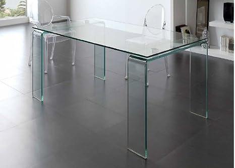 Dugarhome Mesa de comedor cristal DT-06: Amazon.es: Hogar