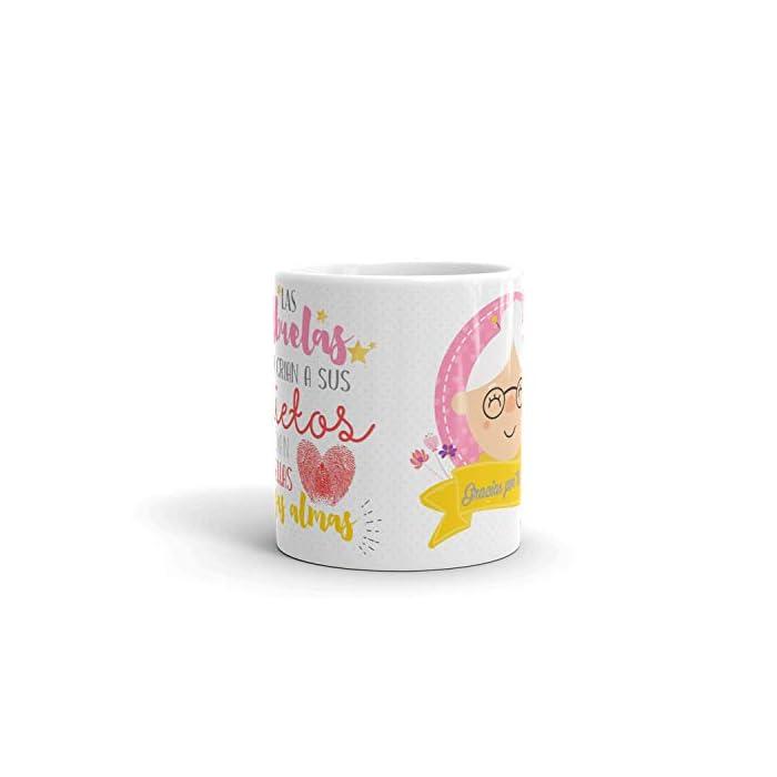 41M8DQIPzZL ✅ACCESORIO DIVERTIDO: Ahora la Abuela puede disfrutar de una taza de café o té caliente en una taza de cerámica elegante que hará que todas las mañanas sean más fáciles y relajantes. ✅GRAN REGALO: La taza la Abuela es un excelente regalo para Navidad, cumpleaños, aniversario, dia del padre... esas bonitas tazas son una forma maravillosa de expresar su respeto y admiración hacia su Abuelo. Regalos originales que transmiten a nivel emocional, tu abuela quedara sorprendido. ✅CALIDAD PREMIUM: La bonita taza de regalo para abuela está hecha completamente de cerámica con materiales resistentes y duraderos. Las tazas de café son aptas para el lavavajillas y microondas, así puede ahorrar tiempo y energía en la mañana preparando su bebida favorita.