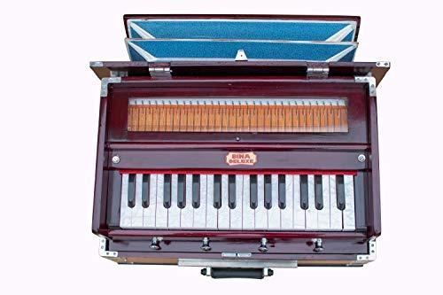 Maa Padma Farms Professional Deluxe Harmonium Musical Instrument MINI/Handy Well tuned Baja Harmonium of Indian Instrumentals with cover- Vrindavan