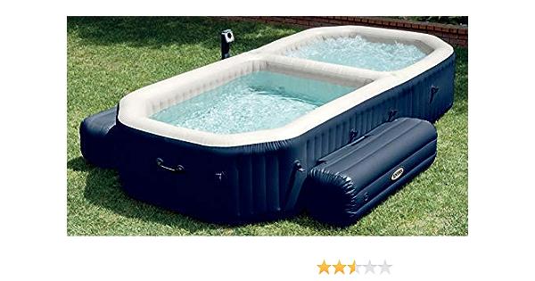 Intex PureSpa - Spa con piscina hinchable, 3.86 x 2.57 x 71 cm, 120 burbujas Spa, 150 burbujas piscina (28492): Amazon.es: Jardín