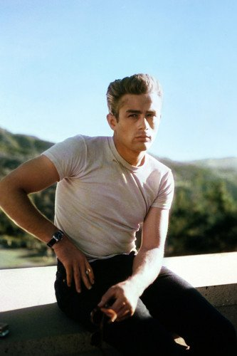 James Dean in Rebel Without a Cause in white t-shirt Griffith Park Observatory 24x36 Poster