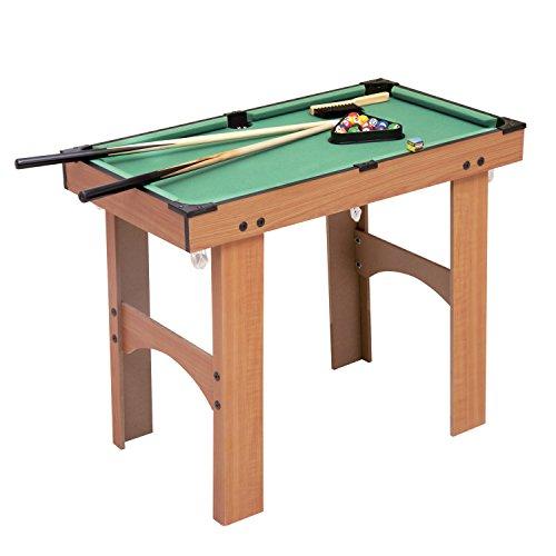 809bc1d838d2e8 Homcom Mini Table de Billard sur Pied avec Accessoires Bois MDF Velours 77  x 40 x 63 cm  Amazon.fr  Jeux et Jouets