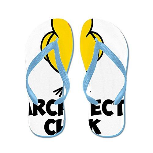 CafePress Ho384 - Flip Flops, Funny Thong Sandals, Beach Sandals Caribbean Blue