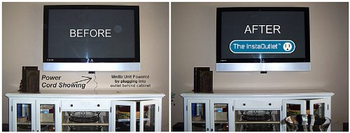 The InstaOutlet® for Media Players Chromecast, Roku, Apple TV by Where's The Wires (Image #6)