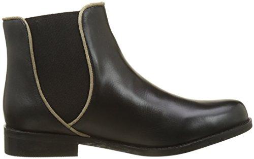 Initiale Damen Mascara Chelsea Boots Noir (Noir/Or)