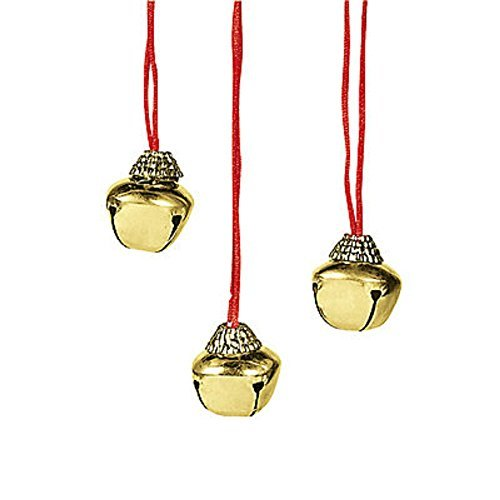 - Lot of 12 Christmas Holiday Jingle Bell Necklaces