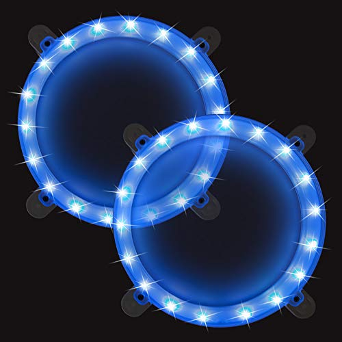 BLINNGO Cornhole Boards Ring Lights, One Set of Two Cornhole Lights, Waterproof LED Cornhole Ring Lights Kit for Cornhole Bags, Bean Bags, Tailgate Games,Yard Games (Blue-Blue)