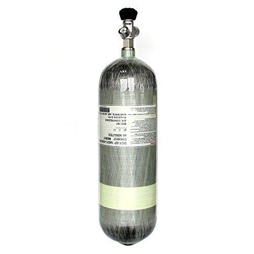 IORMAN 9L 4500psi Air Tank (Empty Bottle) DOT Certificated Carbon Fiber Composite Cylinder with Valve Regulator Gauge for PCP Paintball Scuba SCBA - Diving Cylinder Air Tank