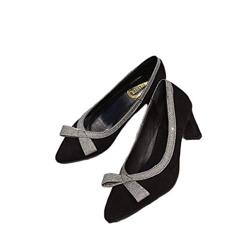 HANBINGPO Women's Shoes High Heel Ladies Pumps Fashion Women Slippers Patent Leather Thin Heels Pumps Women Shoes Jelly Shoes Party Shoes,Gold,6.5 ()