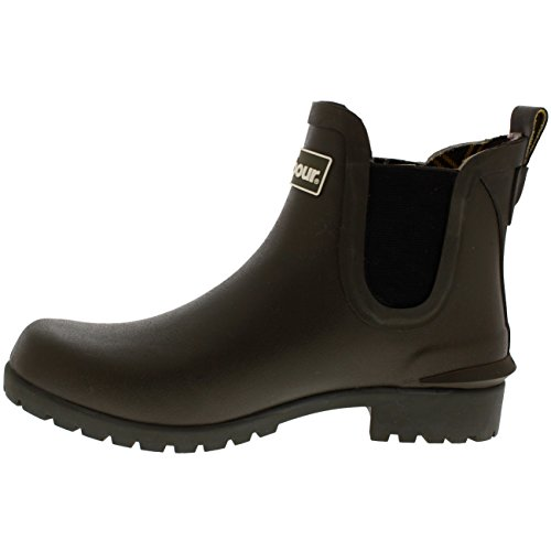 Barbour Waterproof Wilton Chelsea Snow Olive Rubber Boots Womens Wellingtons wxWOwv