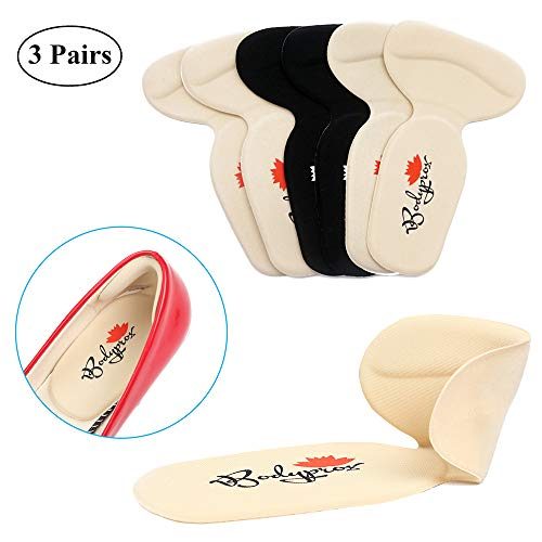 Heel Cushion Insole 3 Pairs, Back Heel Pads for High Heels Blisters ()