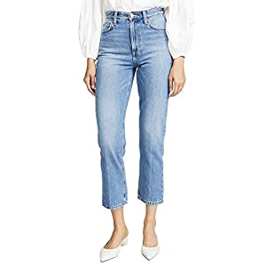 Lee  Women's High Rise Straight Ankle Jeans