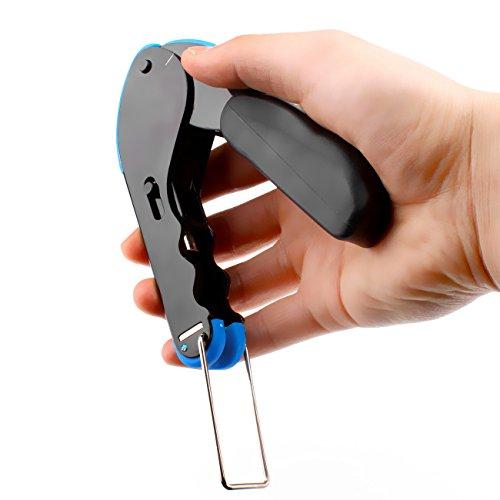abcGoodefg RG59 RG6 RG11 Coax Compression Crimp Tool Connector Hand Crimper Crimping Tool Waterproof (Blue Tool Set) by abcGoodefg (Image #2)