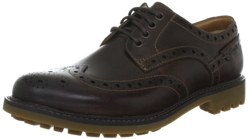Clarks Montacute Wing 203510867060, Chaussures basses homme Marron (Dark Brown Lea)
