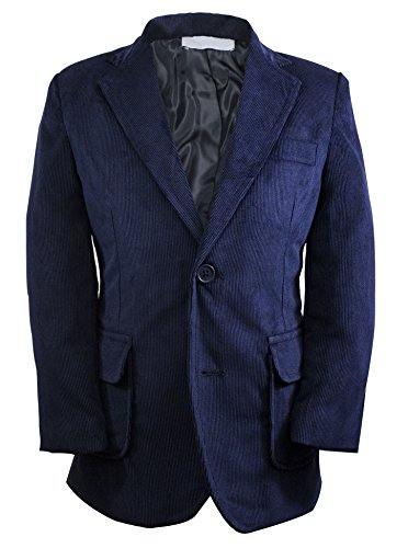 Luca Gabriel Toddler Boys' Navy Single Breasted Corduroy Blazer Jacket - - Old Corduroy Pants Navy