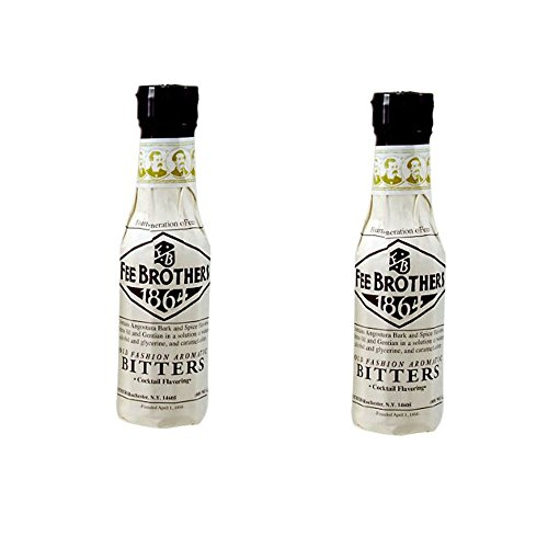 Fee Brothers Old Fashion Aromatic Bitters 5oz (Pack of 2)