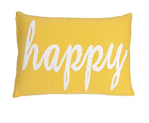 IMAX 86039 Suzie Happy Pillow - Handcrafted of cotton with polyfill Fun accent perfect for any contemporary house Due to the artisan crafted nature of this product, no two will be identical - living-room-soft-furnishings, living-room, decorative-pillows - 41M8GOfPn5L -