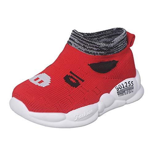 Amandaz Toddler Babys Comfort Little Shoes Girls Walking Tract Lightweight Sneakers Sneaker Sport Mesh Sneakers Red