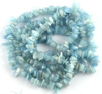 BAROQUE NUGGET CHIP NATURAL AQUAMARINE 3X6-5X10MM GEMSTONE LOOSE BEADS 36 New by LG-jewery ()