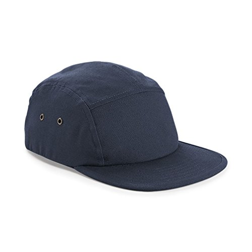 Beechfield Canvas 5 Panel Classic Baseball Cap (One Size) (Navy)