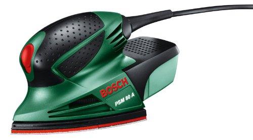 Bosch PSM 80 A - Multilijadora, 3 hojas de lija RedWood, con maletín (